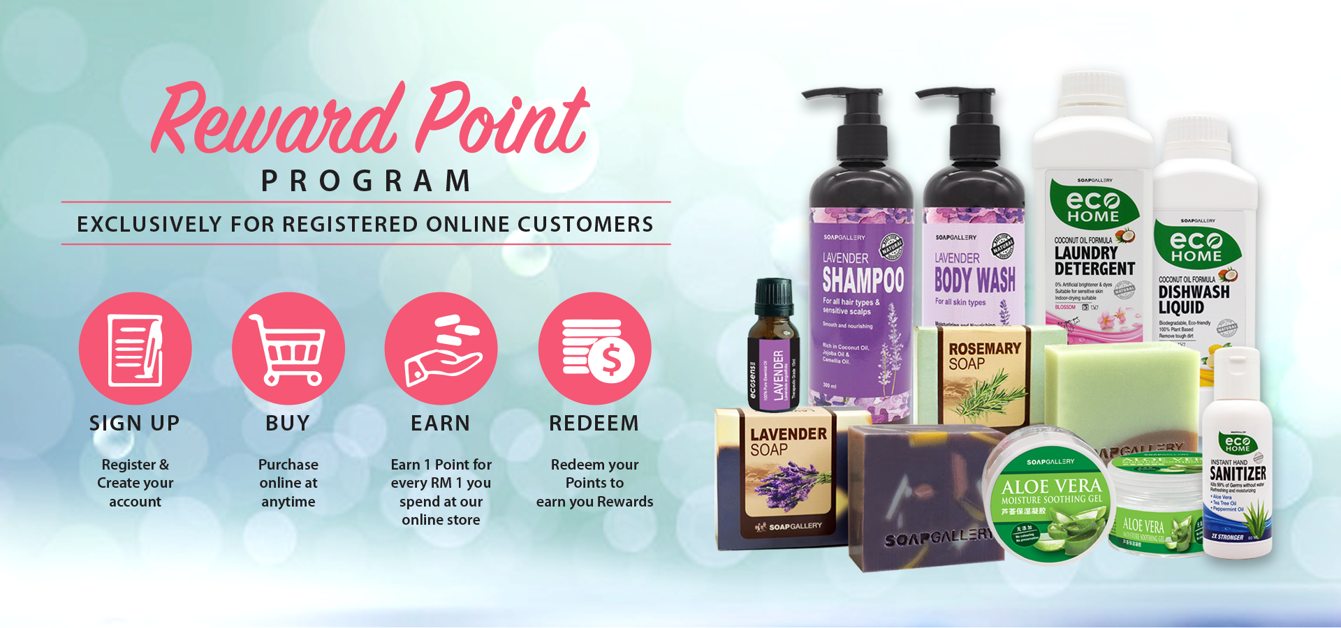 Soap Gallery Reward Point Program